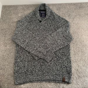 Simons Men Shawl Collar Marl Sweater.